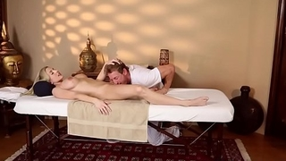 Busty amateur sixtynining more her masseur