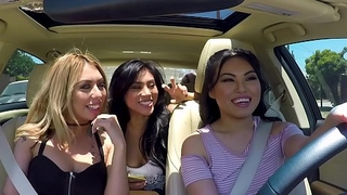 SCAM ANGELS - Pornstars Cindy Starfall and Kat Dior go for blackmail threeway