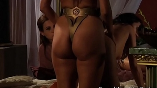 Lesbian Slave'_s Revenge: Curvy Slave Girls And Strapon In Threesome