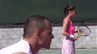 Fourway teens pussyfucked on tennis court