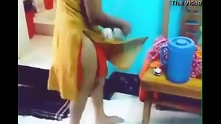 indian girl removing dress far front of will not hear of bf with hindi audio