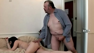 Lucky Fat Guy Received a On target Handjob