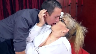 Mischievous distressing Granny'_s sexual pleasures
